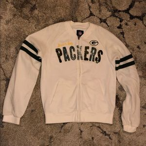 NFL Green Bay Packers white sequined jacket
